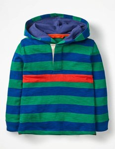 Read more about Hooded rugby shirt green boys boden green