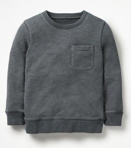 Read more about Garment-dyed sweatshirt grey boys boden grey
