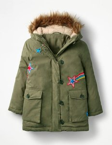 Read more about Cosy parka green girls boden green