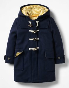 Read more about Duffle coat navy girls boden navy