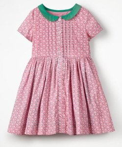 Read more about Collared nostalgic dress pink girls boden pink