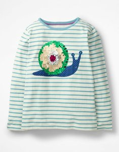 Read more about Colour-change sequin t-shirt blue girls boden blue
