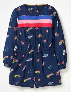 Read more about Printed retro playsuit navy girls boden navy