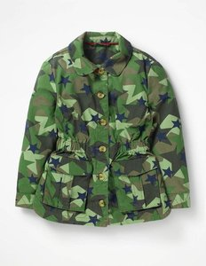 Read more about Khaki stars utility jacket green girls boden green