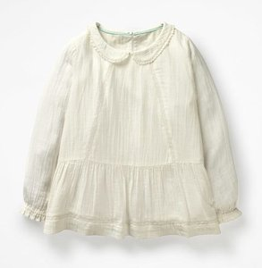 Read more about Pretty detailed woven top white girls boden white