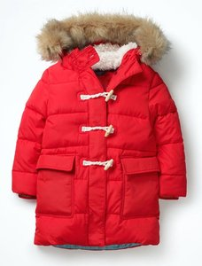 Read more about Long-line padded jacket red girls boden red
