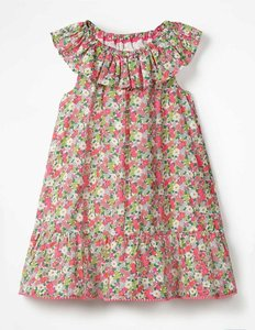 Read more about Ruffle neck dress multi girls boden multi