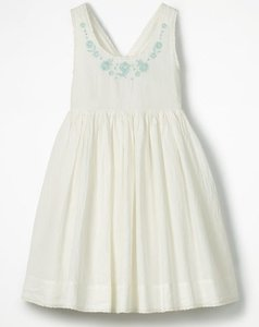 Read more about Pretty embroidered bow dress ivory girls boden ivory