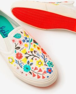 Read more about Embroidered slip-on shoes ivory girls boden ivory