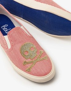 Read more about Embroidered slip-on shoes red girls boden red