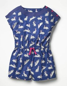 Read more about Printed woven playsuit navy girls boden navy
