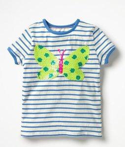 Read more about Sequin colour-change t-shirt blue girls boden blue