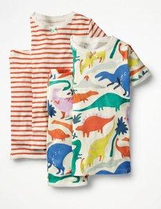 Read more about Twin pack short john pyjamas multi girls boden multi