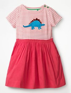 Read more about Sequin colour-change dress pink girls boden pink