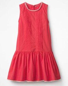 Read more about Drop-waist woven dress pink girls boden pink