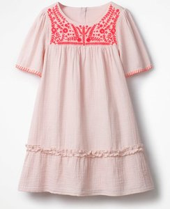 Read more about Embroidered kaftan dress pink girls boden pink