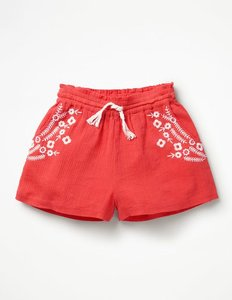 Read more about Embroidered woven shorts red girls boden red