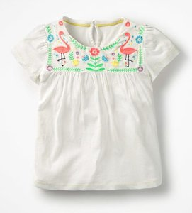 Read more about Embroidered yoke top ivory girls boden ivory