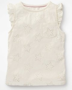 Read more about Broderie star top ivory girls boden ivory
