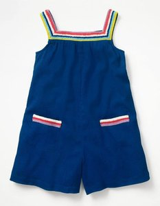 Read more about Crochet crinkle playsuit blue girls boden blue
