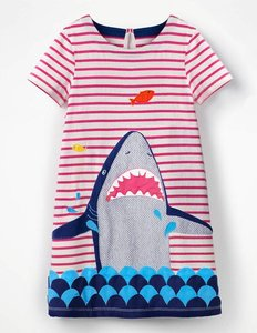 Read more about Animal appliqu dress pink girls boden pink