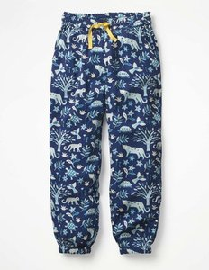 Read more about Relaxed woven trousers navy girls boden navy