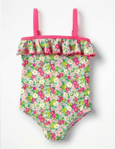 Read more about Frill detail swimsuit pink girls boden pink
