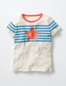 Read more about Star colour-change t-shirt blue girls boden blue