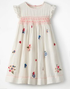 Read more about Embroidered posy smock dress multi girls boden multi