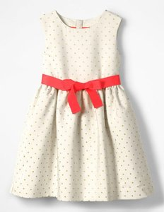 Read more about Jacquard spot dress ivory girls boden ivory