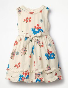 Read more about Posy ruffle hem dress multi girls boden multi