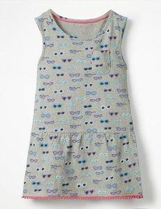 Read more about Drop-waist jersey dress grey girls boden grey