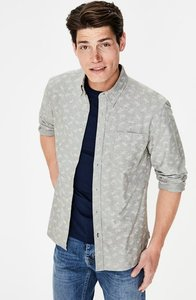 Read more about Slim fit oxford shirt grey men boden grey