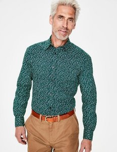 Read more about Printed twill shirt green men boden green