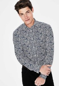 Read more about Printed twill shirt navy men boden navy