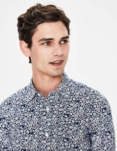 Read more about Slim fit printed twill shirt navy men boden navy