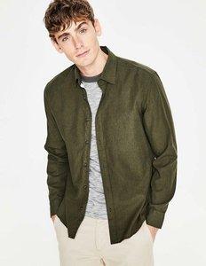 Read more about Linen cotton shirt green men boden green
