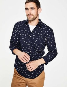 Read more about Printed shirt navy men boden navy