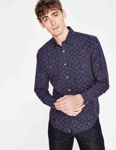 Read more about Slim fit floral printed shirt navy men boden navy