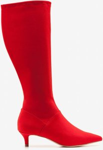 Read more about Kitten heel stretch boots red women boden red