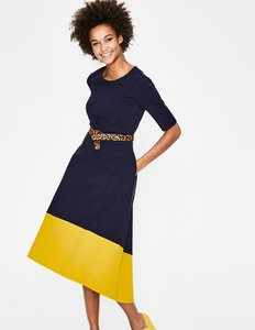 Read more about Wren ponte midi dress navy women boden navy