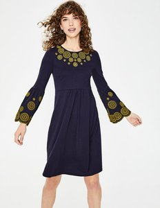 Read more about Emilia embroidered dress navy women boden navy