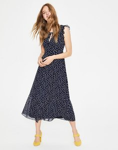 Read more about Laura ruffle dress navy women boden navy