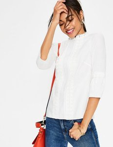 Read more about Lace pintuck top ivory women boden ivory