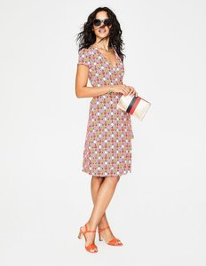 Read more about Summer wrap dress pink women boden pink