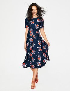Read more about Ruth midi dress navy women boden navy