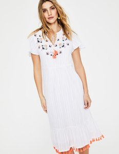 Read more about Evelyn embroidered dress ivory women boden ivory
