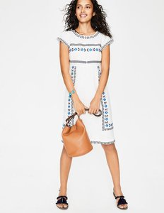 Read more about Dora embroidered dress ivory women boden ivory