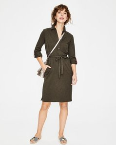 Read more about Jena jersey shirt dress khaki women boden khaki