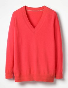 Read more about Cashmere relaxed v-neck jumper pink women boden pink